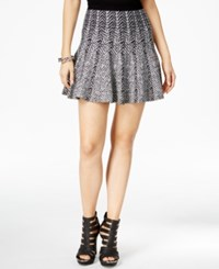 Guess Printed Fit And Flare Mini Skirt Jet Black Multi