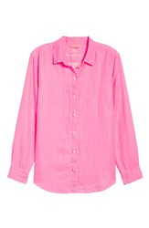Tommy Bahama Sea Glass Breezer Top Hot Pink