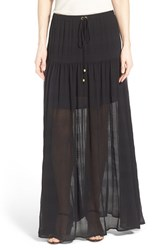 Women's Michael Michael Kors Crinkled Stripe Maxi Skirt