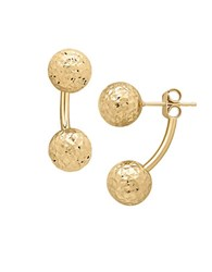 Lord And Taylor 14K Yellow Gold Ball Large Ear Jackets