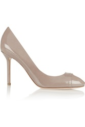 Sergio Rossi Cachet Patent Leather Peep Toe Pumps