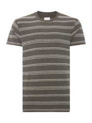 Peter Werth Ginsberg Two Colour Crafted Polo Shirt Charcoal