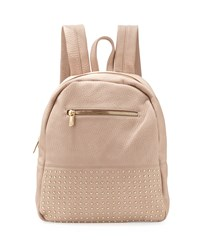 Neiman Marcus Classic Studded Faux Leather Backpack Blush Pink