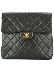 Chanel Vintage Quilted Chain Backpack Bag Black