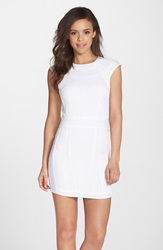 Charlie Jade Seamed Knit Minidress White