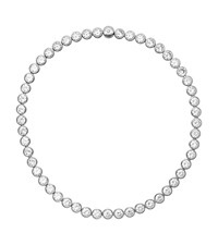 Michael Kors Crystal Silver Tone Necklace