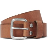 J.Crew 5Cm Brown Brody Leather Belt Tan