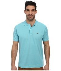 Lacoste L1212 Classic Pique Polo Shirt Corsica Aqua Men's Short Sleeve Knit Blue