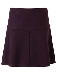 Jigsaw Boiled Wool Flippy Skirt Plum