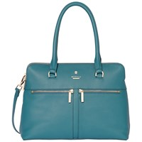 Modalu Pippa Classic Leather Grab Bag Emerald