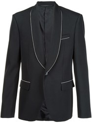 Givenchy Contrast Trim Blazer Black