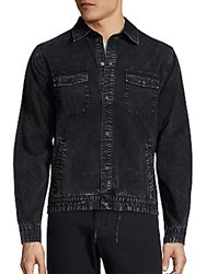 Madison Supply Long Sleeve Denim Jacket Caviar