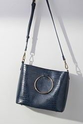 Anthropologie Marlena Tote Bag Navy