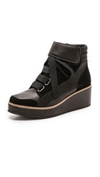 Surface To Air Siastep Wedge Sneakers Black