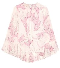 Giambattista Valli Printed Silk Top Pink