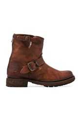 Frye Valerie 6 Motorcycle Lamb Shearling Lined Boot Cognac