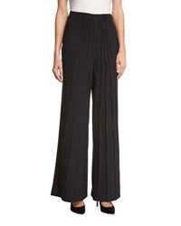 Catherine Malandrino High Waist Pintuck Front Pants Black