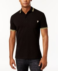 Versace Jeans Men's Embroidered Polo Black