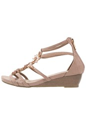 Xti Wedge Sandals Taupe