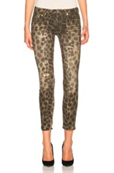R 13 R13 Kate Skinny In Neutrals Animal Print Neutrals Animal Print