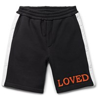 Gucci Embroidered Loopback Cotton Jersey Shorts Black