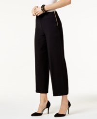 Inc International Concepts Cropped Wide Leg Pants Only At Macy's Deep Black