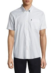 Barbour Theo Micro Printed Button Down Shirt White