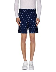 Band Of Outsiders Trousers Bermuda Shorts Men Dark Blue