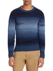 Ralph Lauren Purple Label Ribbed Knit Pullover Blue