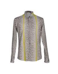 Roberto Cavalli Shirts Shirts Men Light Grey