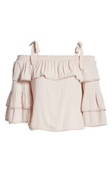 Willow And Clay Lace Trim Cold Shoulder Top Ballet