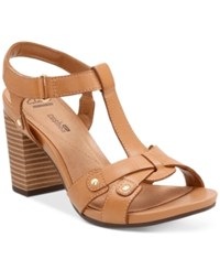 Clarks Collection Women's Banoy Valtina Dress Sandals Women's Shoes Tan