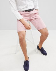 Esprit Slim Fit Chino Shorts In Pink