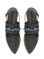 Mother Of Pearl Erin Patent Slingback Black