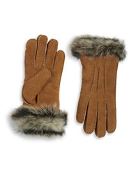Ugg Shearling Sheepskin Gloves Chestnut
