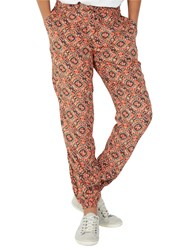 Fat Face Jewel Geo Printed Trousers Ginger
