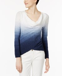 Inc International Concepts Dip Dye Crossover Top Only At Macy's Deep Twilight