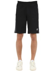 Adidas 3 Stripe Cotton Shorts Black