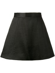 Olivier Theyskens Mini Skater Skirt Women Silk Cotton 40 Black