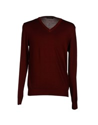 Nardelli Knitwear Jumpers Men Maroon