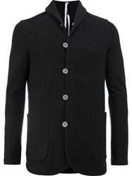 Label Under Construction Single Breasted Jacket Men Cotton Alpaca Virgin Wool Xl Black