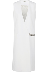 Thierry Mugler Sleeveless Stretch Cady Coat