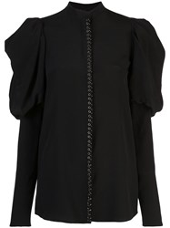 Vera Wang Exaggerated Sleeve Blouse Black