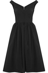Preen By Thornton Bregazzi Ted Off The Shoulder Stretch Crepe Dress Black