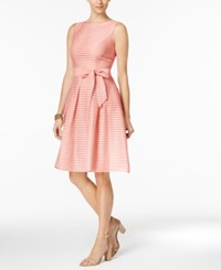 Tommy Hilfiger Illusion Striped Fit And Flare Dress Blush