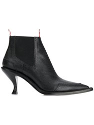 Thom Browne Brogued Long Point Boot Black