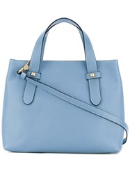 Borbonese Top Handle Tote Women Leather Polyester One Size Blue