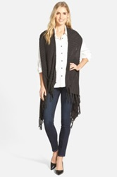 Curio Sweater Vest With Fringe Gray