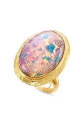 Kenneth Jay Lane Opalescent Cocktail Ring Gold