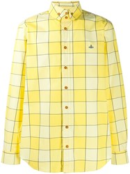 Vivienne Westwood Checked Button Down Shirt Yellow